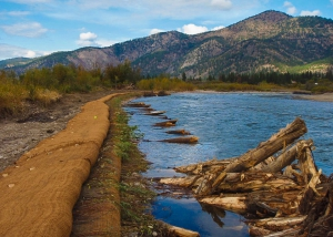 Milltown dam restoration on clark fork river montana